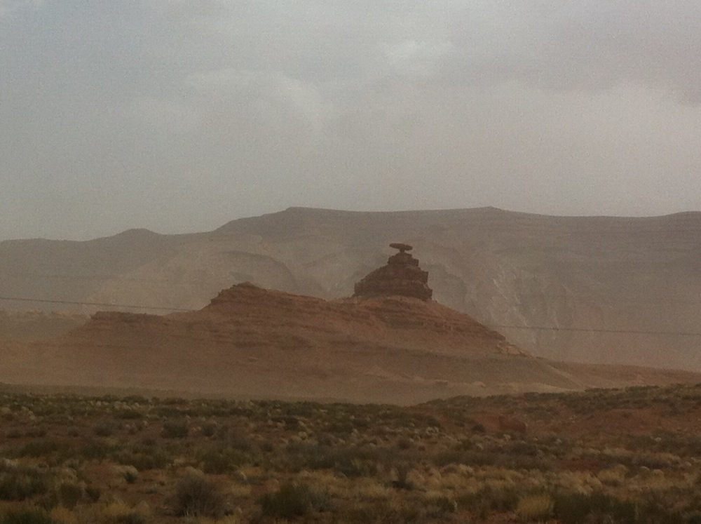 Mexican Hat - Rock formation and town named for it