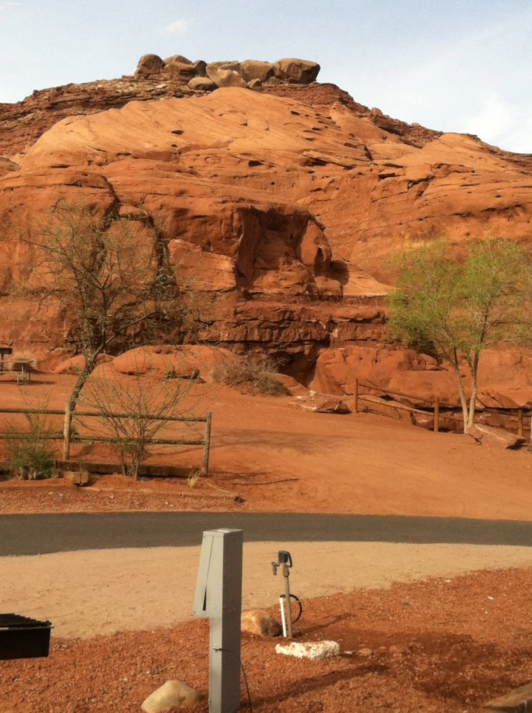 Surrounded by red rock