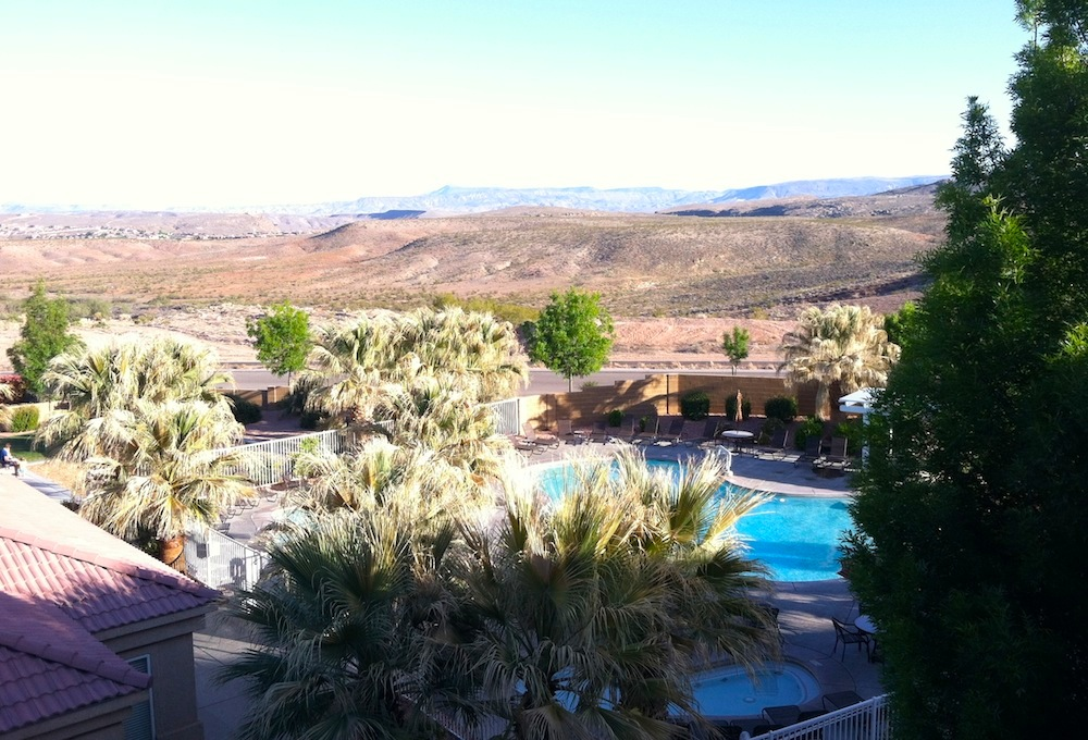 The view from our balcony at the Worldmark