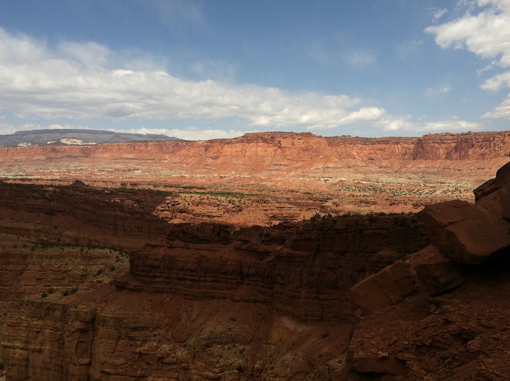 """A view of the """"fold"""" - the rock plate that tipped up to make Capitol Reef"""