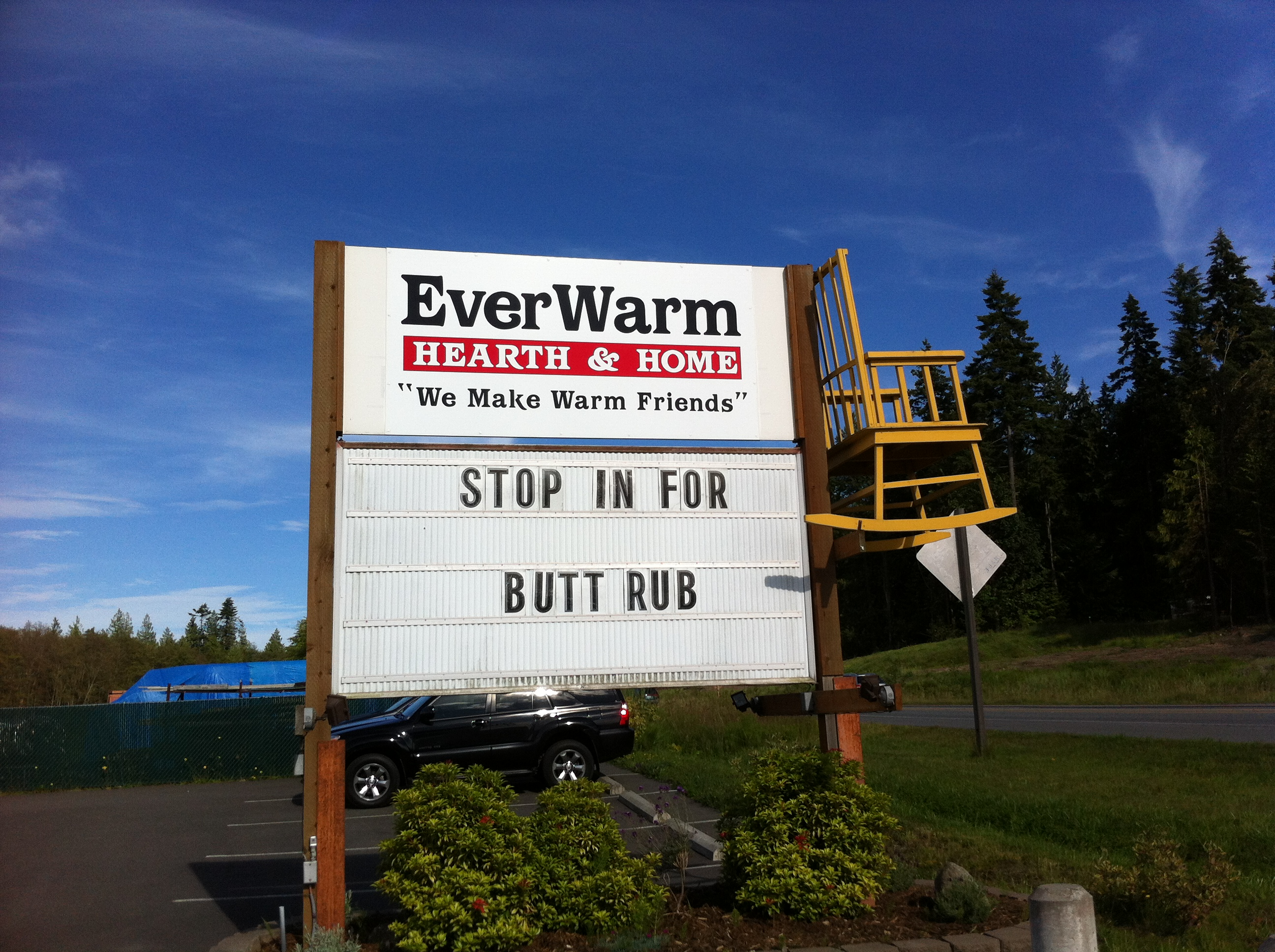 Hwy 101 outside Olympic Natl Park, WA.  I still don't understand what's being offered....