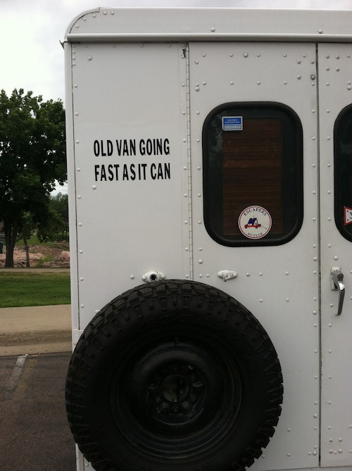 An honest delivery truck