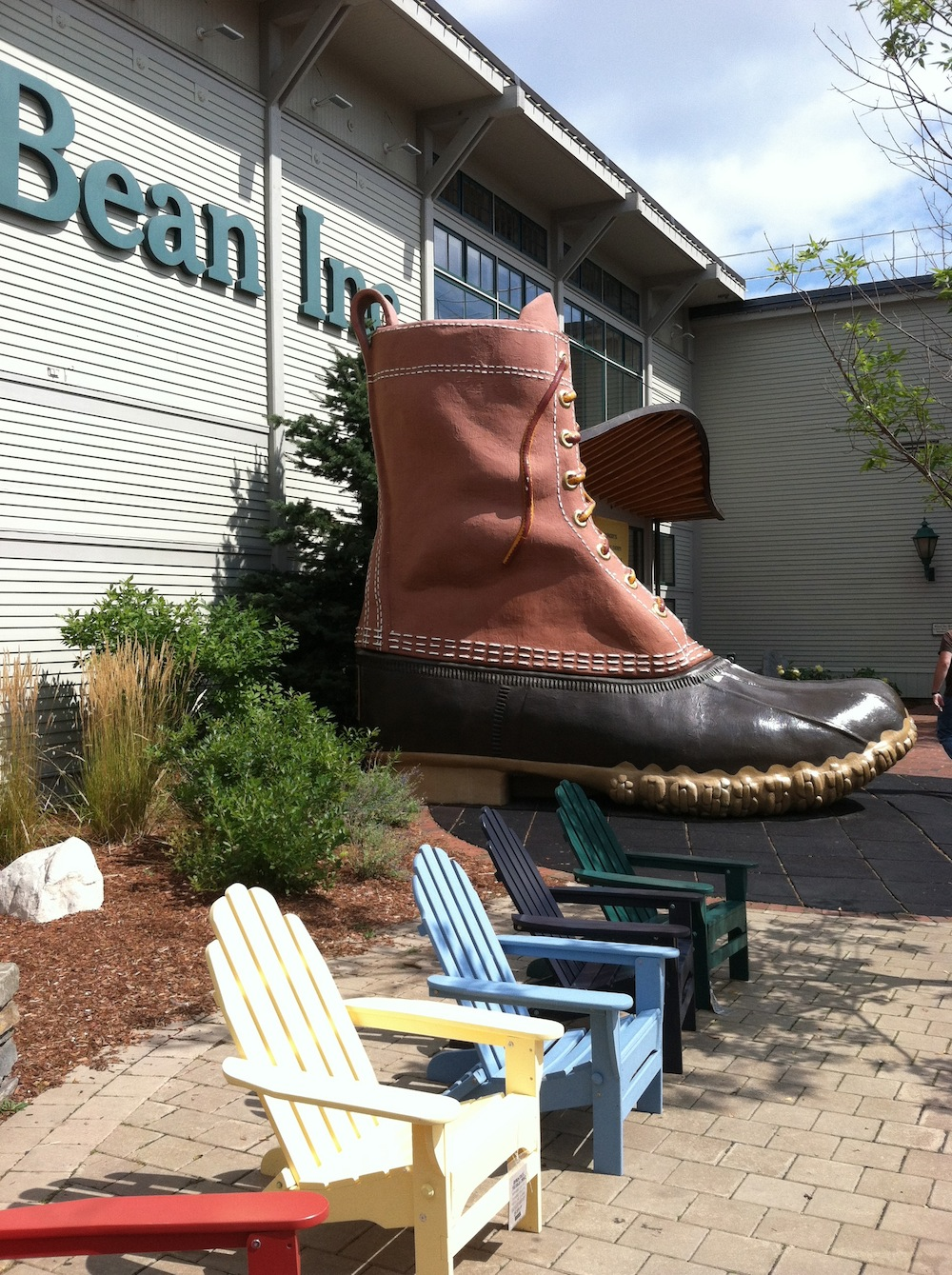 Outside the massive flagship L.L. Bean store