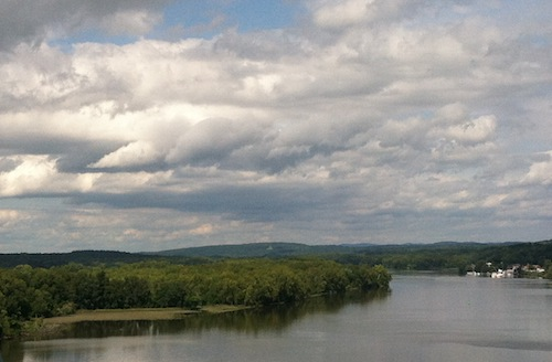 The Hudson River - taken while crossing a bridge at 60 mph.