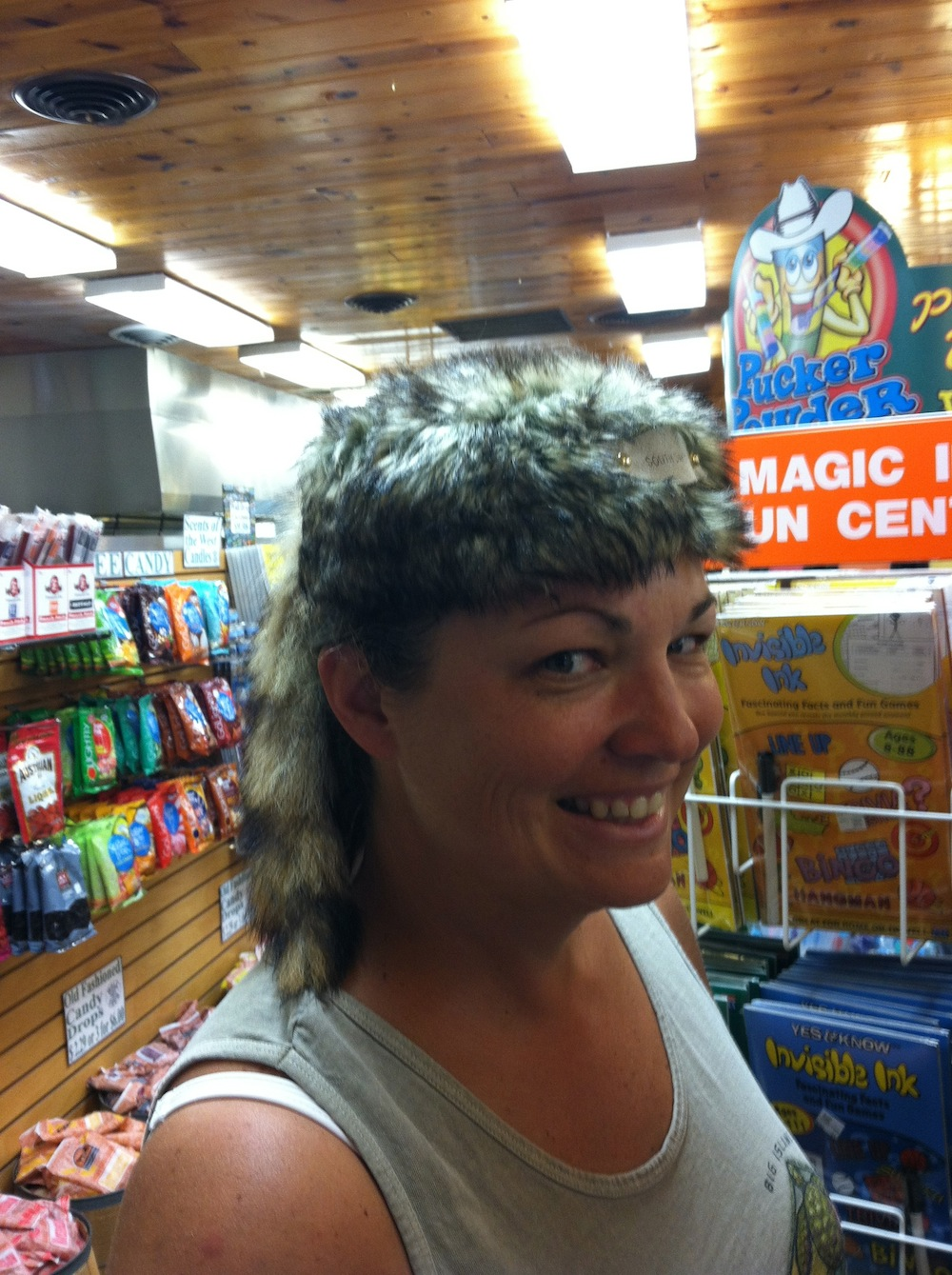 Coonskin?  Says I'm makin' moonshine in my spare time?
